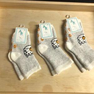 Bundle 3 Warm Slip Grip Toddler Socks